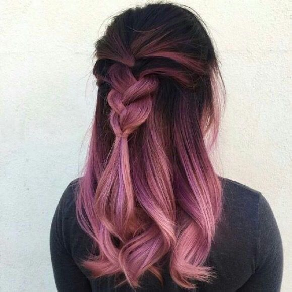 A hint of coral plus the gorgeous bright pink from dark roots
