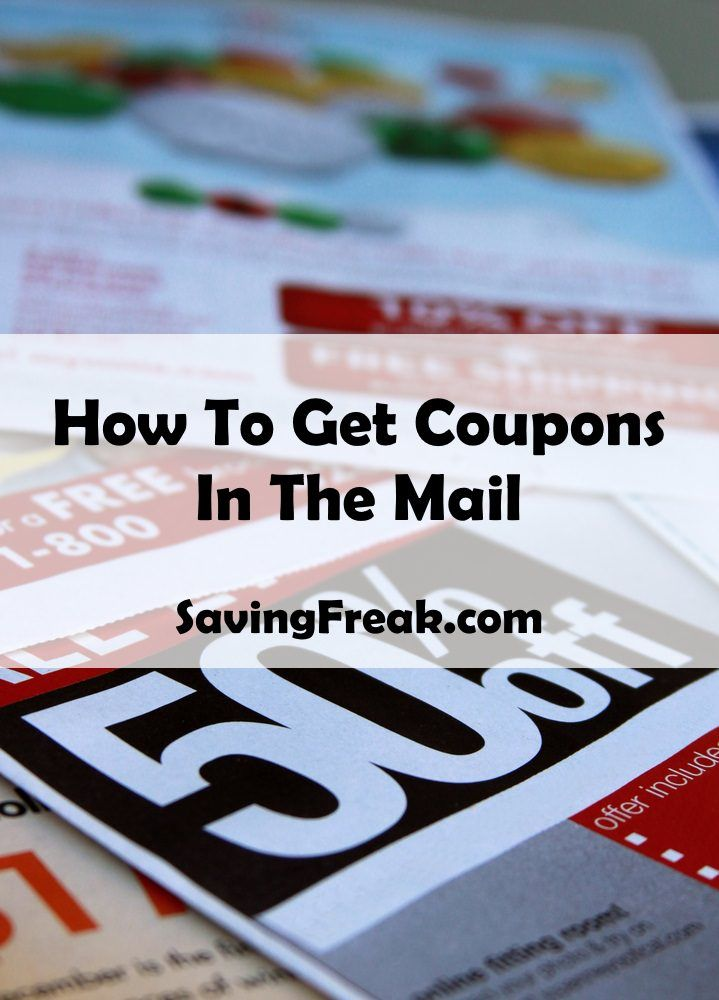 How to get free coupons in the mail