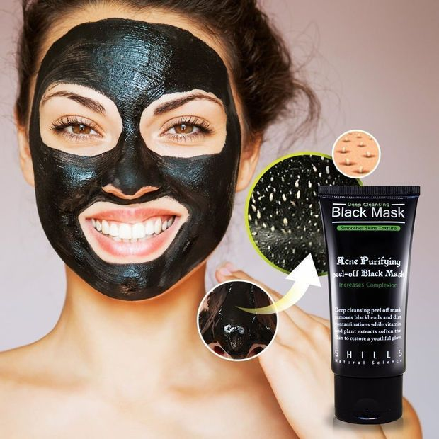 Deep Cleansing Charcoal Black Mask - Pore Minimizing, Peel Off Blackhead Remover