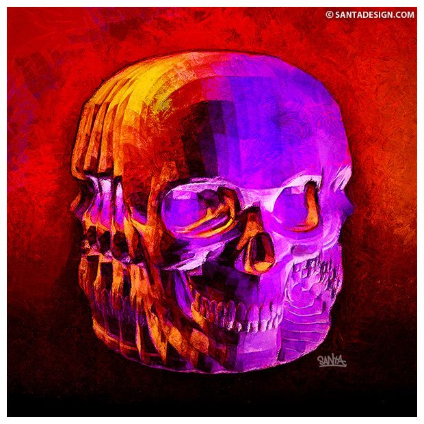 #Skull #Head #Digital #Paint