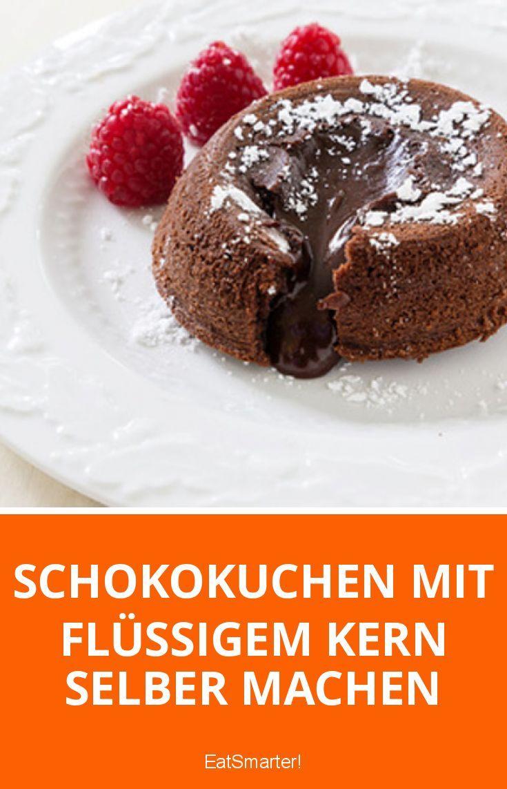 Schokokuchen mit flüssigem Kern selber machen   eatsmarter.de