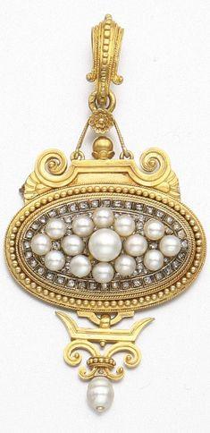 RosamariaGFrangini | Pearl Poetry | HighJewellery Antique | TJS | GOLD, PEARL DIAMOND PENDANT-BROOCH