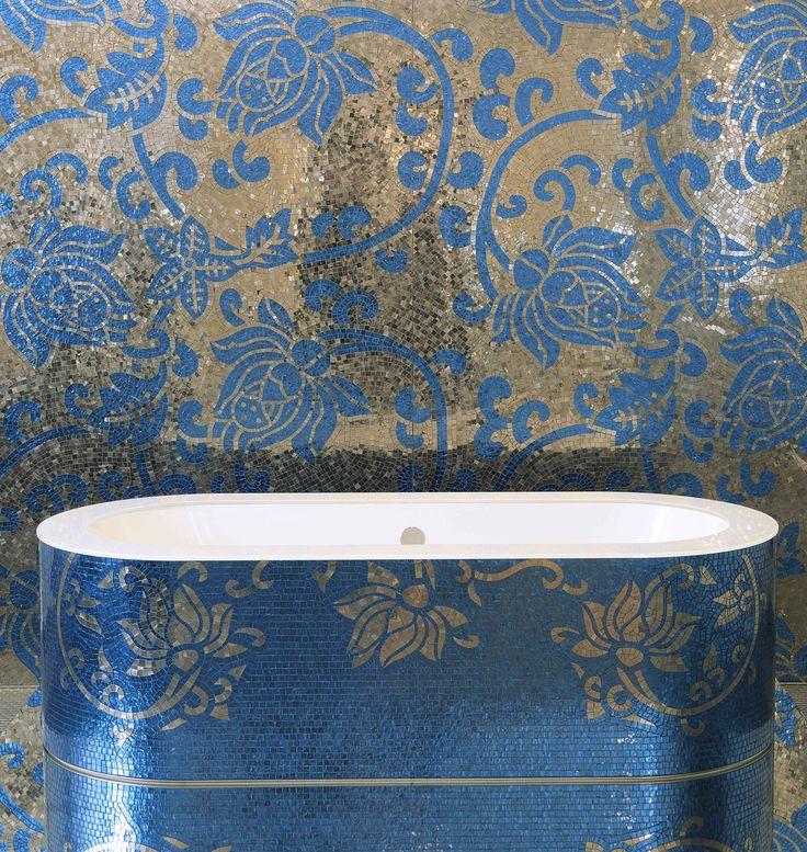 Les 25 meilleures id es concernant salles de bains bleu for Salle de bain bleu et jaune