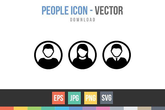 People Icon Male and Female Person by TukTuk Design on @creativemarket