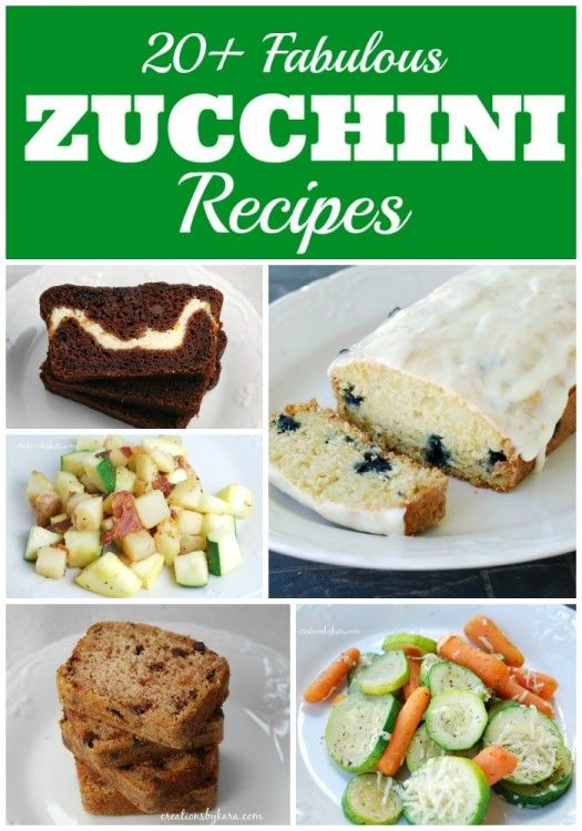 Creations by Kara: 20+ Delicious Zucchini Recipes