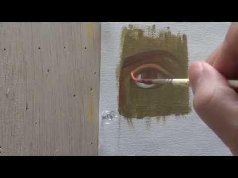 САМОУЧИТЕЛЬ ИКОНОПИСИ написание глаз на иконе - YouTube