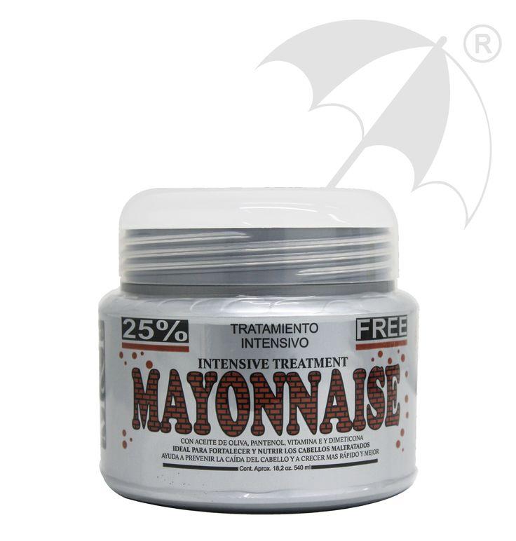 TRATAMIENTO MAYONNAISE Previene la caída del cabello evita el quiebre, creando un folículo piloso mas fuerte gracias a su alto contenido de proteínas y vitaminas generando a su vez hidratación y suavidad.