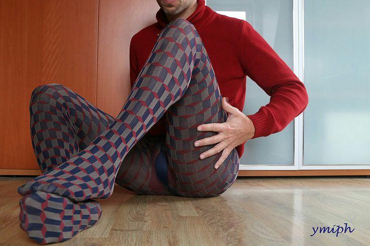 Patterned Pantyhose For Men 57