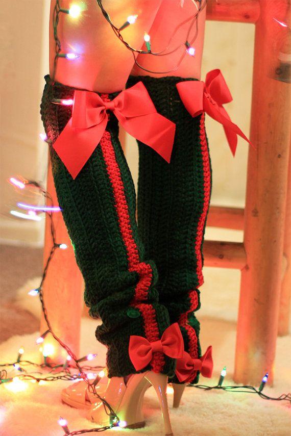 Holiday Fashion Leg Warmers  Thigh High by mademoisellemermaid, $85.00