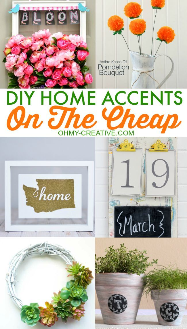 DIY Home Accents on the Cheap - A great way to add new home decor without spending a lot of money!  |  OHMY-CREATIVE.COM