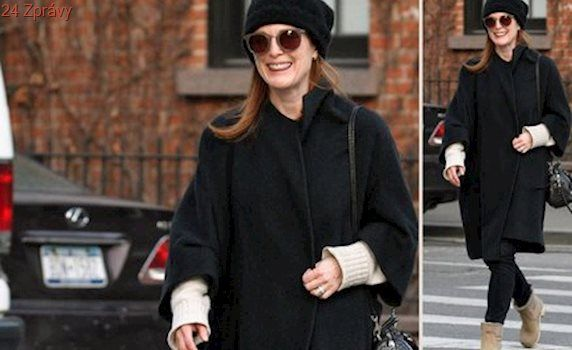 Styl podle celebrit: Zimní outfit podle Julianne Moore