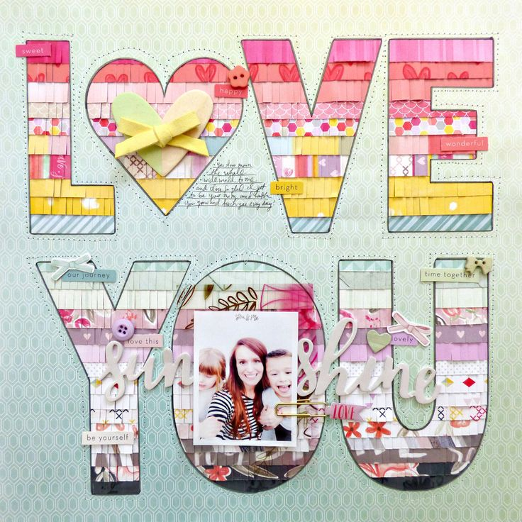 Love You by @paigeevans #scrapbooking #pinkpaislee #bigpictureclasses