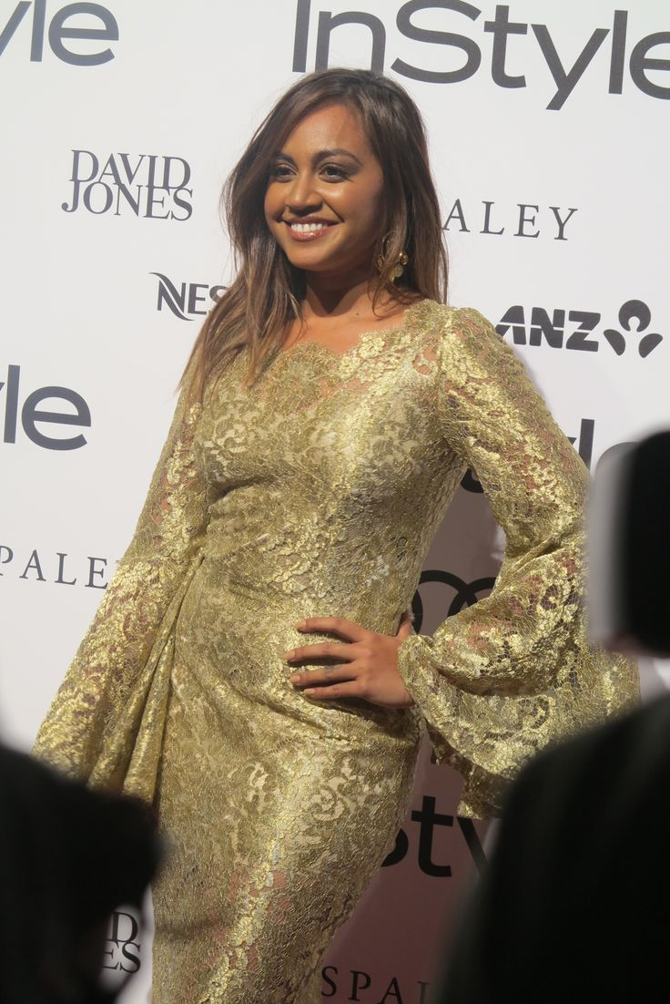 The effervescent Jessica Mauboy in Dolce & Gabbana on the red carpet at the Women of Style awards.