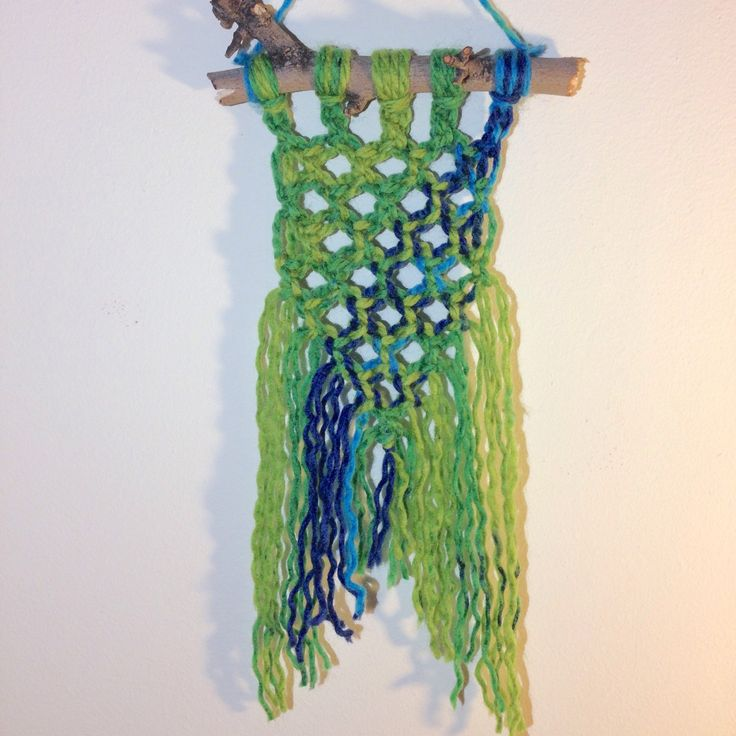New yarn macrame wall hanging in my shop! Check it out!! I also have others available with the same beautiful yarn