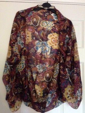 Vintage Floral Cocoon Kimono