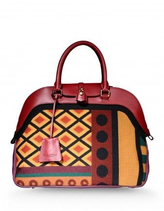Burberry Prorsum Geometric Tapestry Bag - Shop ways to take your boho look from summer to fall: http://shop.harpersbazaar.com/new-arrivals/trending-now