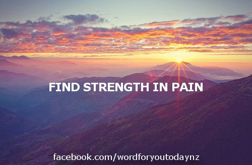 Today's word says that Jesus didn't run away from pain. Whenever we're tempted to, we should work out why first. Sometimes, God allows us pain as part of our character development. Sometimes, God allowing us to go through pain is the most loving thing He could have done #strength #pain