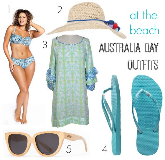 Australia Day outfits at the beach