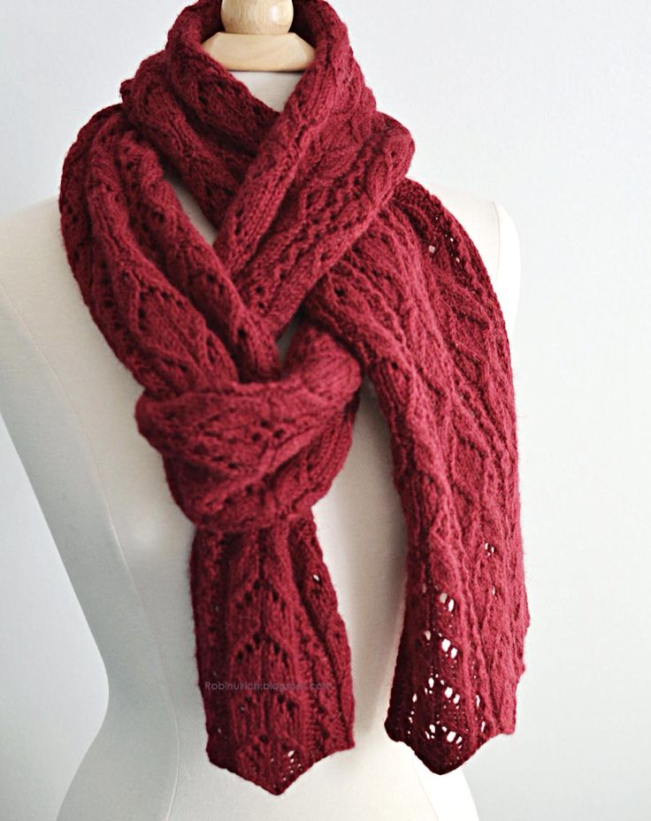 Anothe stylish way to wear a scarf