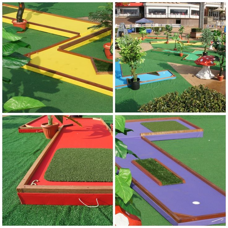 Colourful putt putt course available from Creative Collective