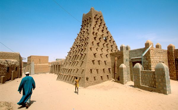 Timbuktu, Mali, Africa... Where you can ride camels and eat fish.