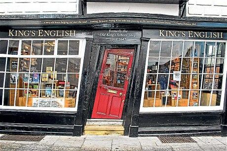 An independent bookshop in Canterbury, housed in a leaning building from the 17th century