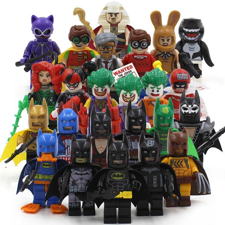 Batman Joker Harley Quinn Calendar Man Catwoman Robin Poison Ivy 2017 Batman Movie Figures Building Blocks Toys