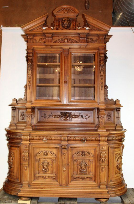 Grand Scale French Renaissance Buffet In Walnut : Lot 120. Fine WoodworkingVictorian  FurnitureVintage ...