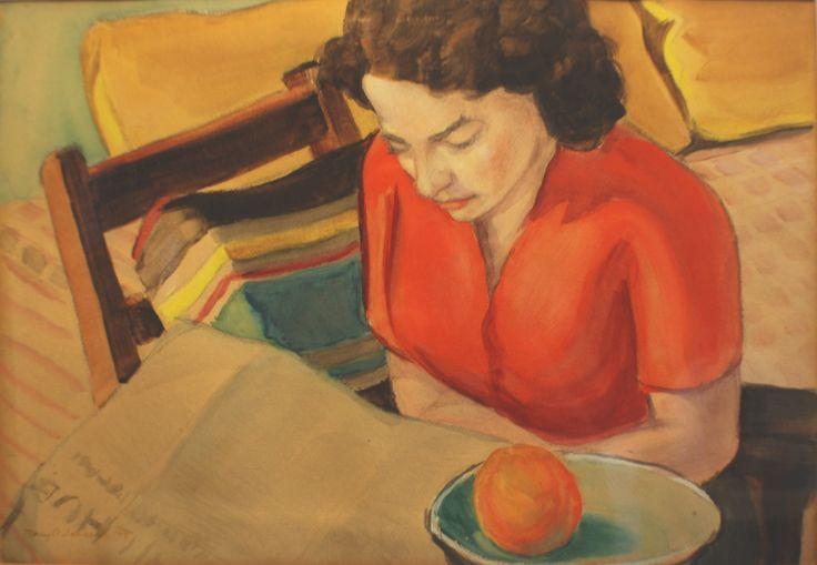"""Mary O. Jonson - """"Marian Reading"""""""