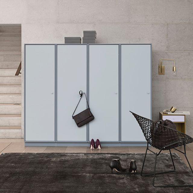 A wardrobe with personality. Colours: Fjord / Frost. #montanafurniture #danishdesign #madeindenmark #wardrobe #homedecor #interiordesign #bedroomdecor