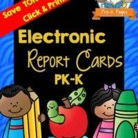 preschool report card