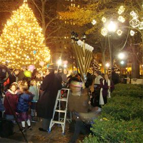 The Rittenhouse Square Menorah Lighting Set For The First Night Of Hanukkah, Tuesday, December 20
