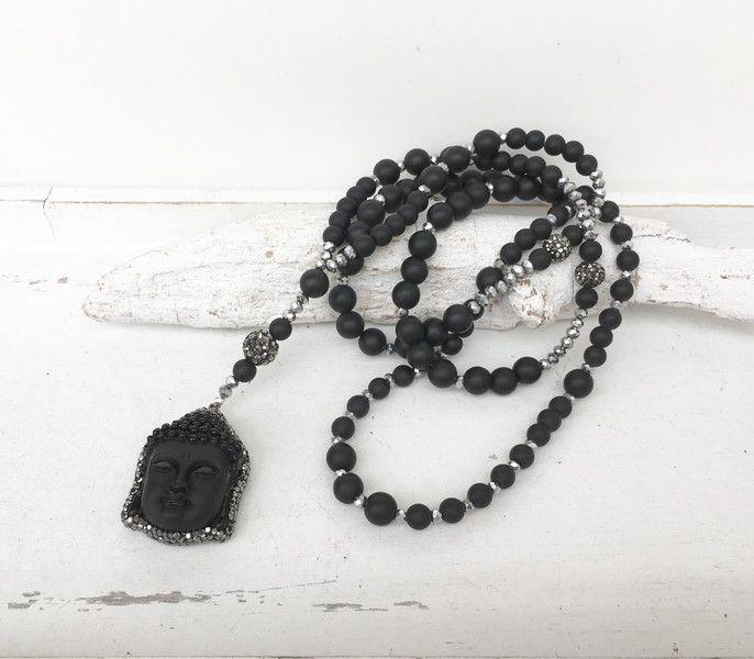Ketten lang - lange Kette - Buddha - black - Achat - - ein Designerstück von moanda bei DaWanda