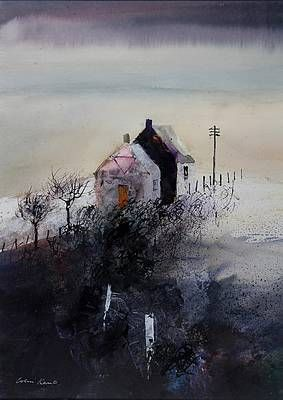 Evening Cottages by British Contemporary Artist Colin KENT