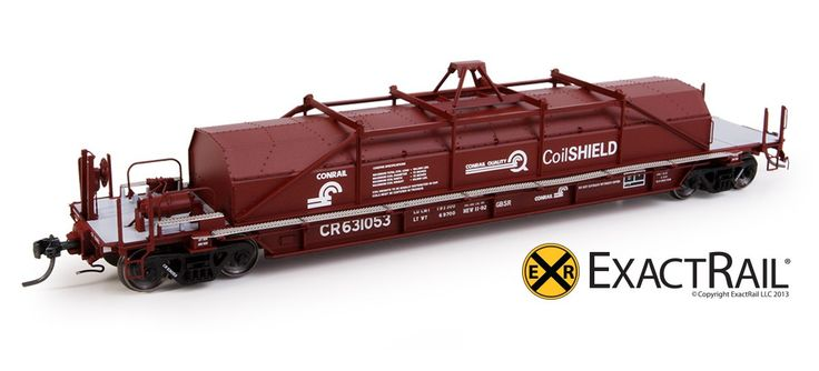 """Thrall 54' Conrail """"Coil Shield"""" Coil Car: """"As Delivered"""" G52S"""