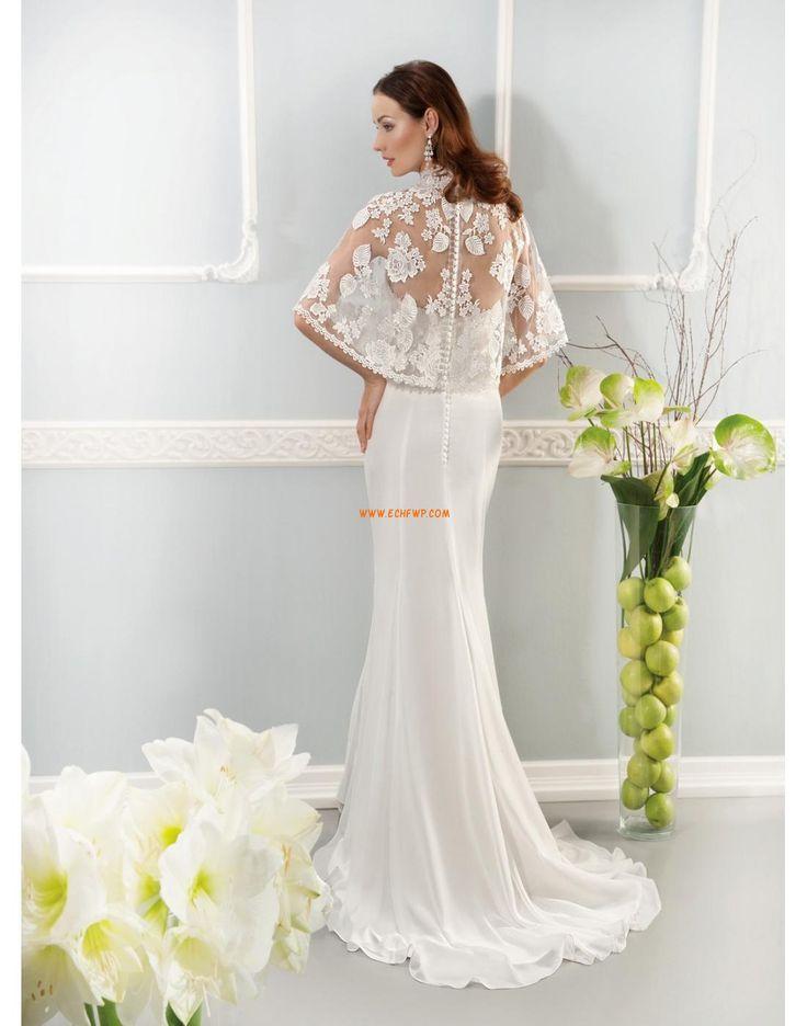 A-line Sans manches Empire Robes de mariée 2014