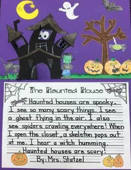 descriptive paragraph about a haunted house