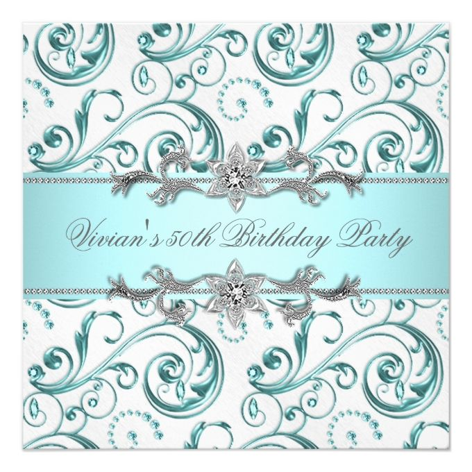 1292 best 90th birthday invitations images on pinterest 90th this deals diamonds silver blue all occasion party square paper invitation card online after you search a lot for where to buy stopboris Gallery