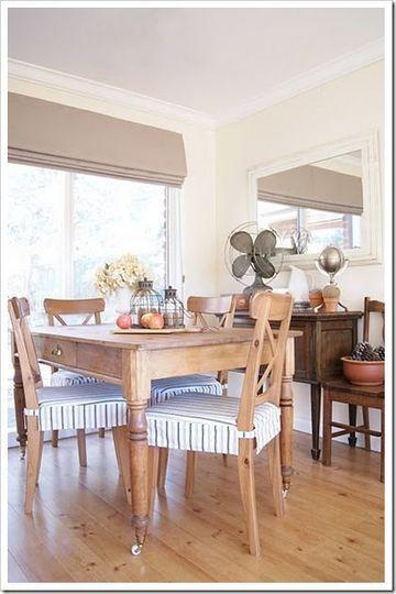 Los forros para sillas de comedor para cuidar y embellecer | Crochet ...