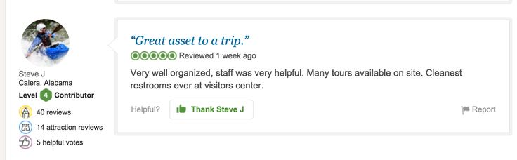 Great review for the Visitor Center located at 301 Martin Luther King Jr. Boulevard, Savannah, GA 3140.