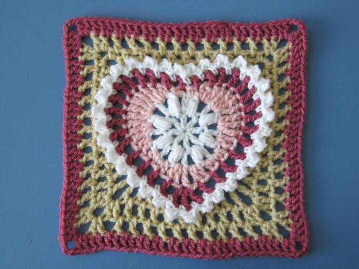 Ravelry: Grandma's Heart Square by Carola Wijma... Free pattern!