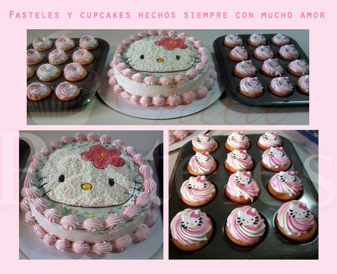Kitty cake and cupcakes!