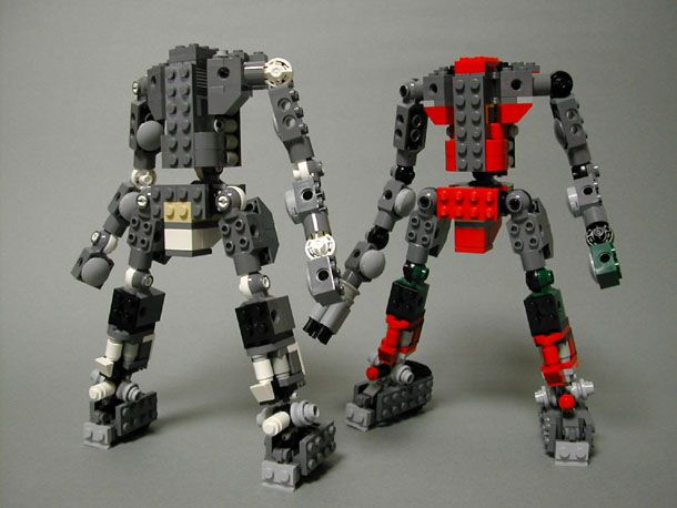 how to build a lego mech frame ball joint