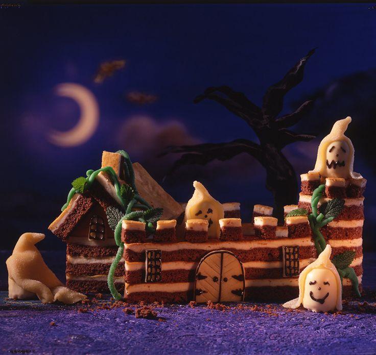 Ein schokoladiges Schloss mit Käsemasse