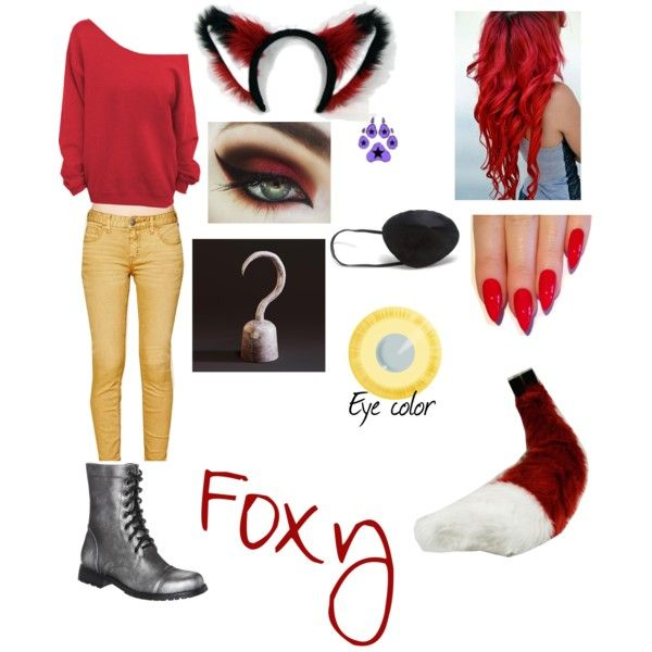 Foxy the Pirate Fox (Five Nights at Freddy's) by kyro19 on Polyvore featuring polyvore, fashion, style, Free People, The Divine Factory and Maison Kitsuné