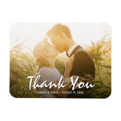 Wide Custom Wedding Thank You Photo Fridge Magnet Wedding And Weddings