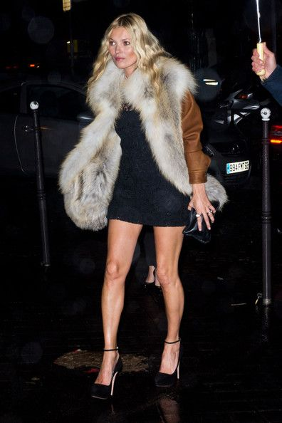 Kate Moss arriving at the Prada party during the S/S 2012 Haute Couture Fashion Week in Paris, France - 24/01/12