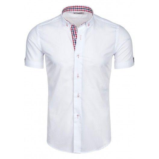 Pánska košeľa na voľný čas bielej farby - fashionday.eu