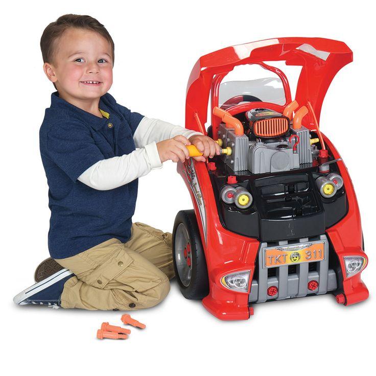 My little auto mechanic super set toy. Get under the hood