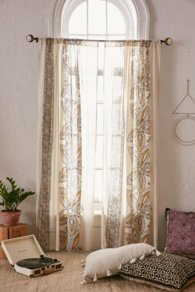 Amita Oversized Floral Curtain - Urban Outfitters